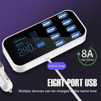 Cargador USB de 8 puertos para teléfono y tableta, estación de carga rápida para xiaomi, cargadores puerto USB para coche, 8 puertos