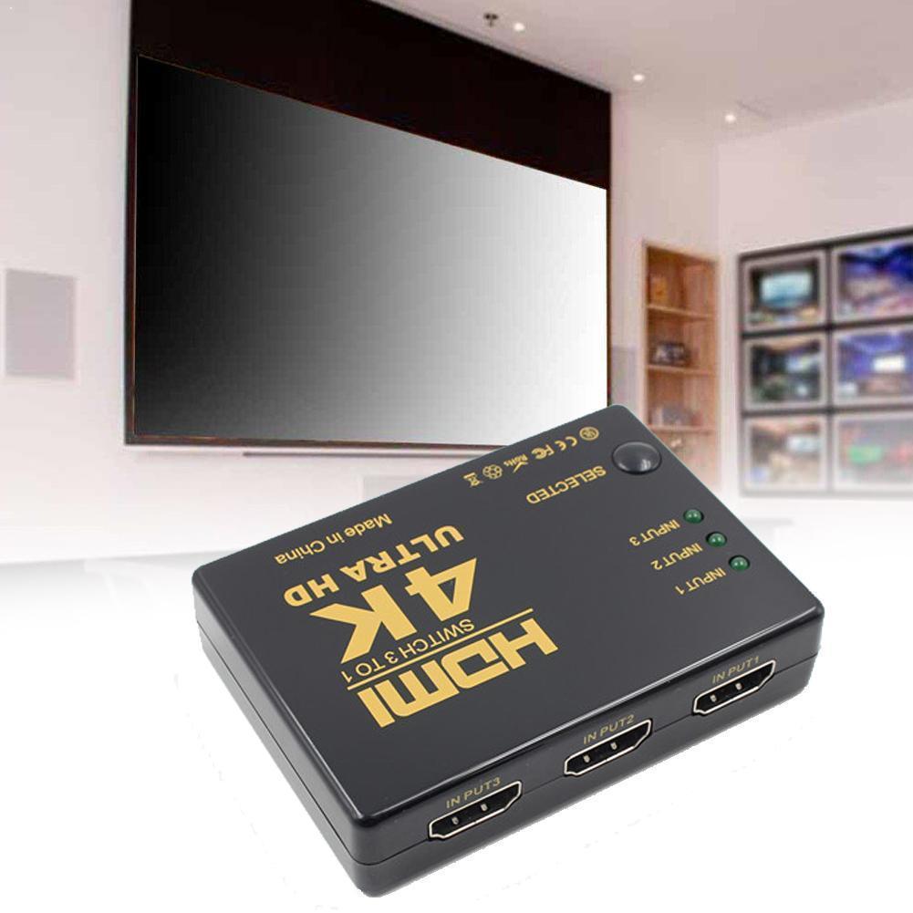 1080P 4K * 2K HDMI видео переключатель HDMI сплиттер концентратор для DVD выход порт HDTV вход 3 PS4 PS3 1 V3L4