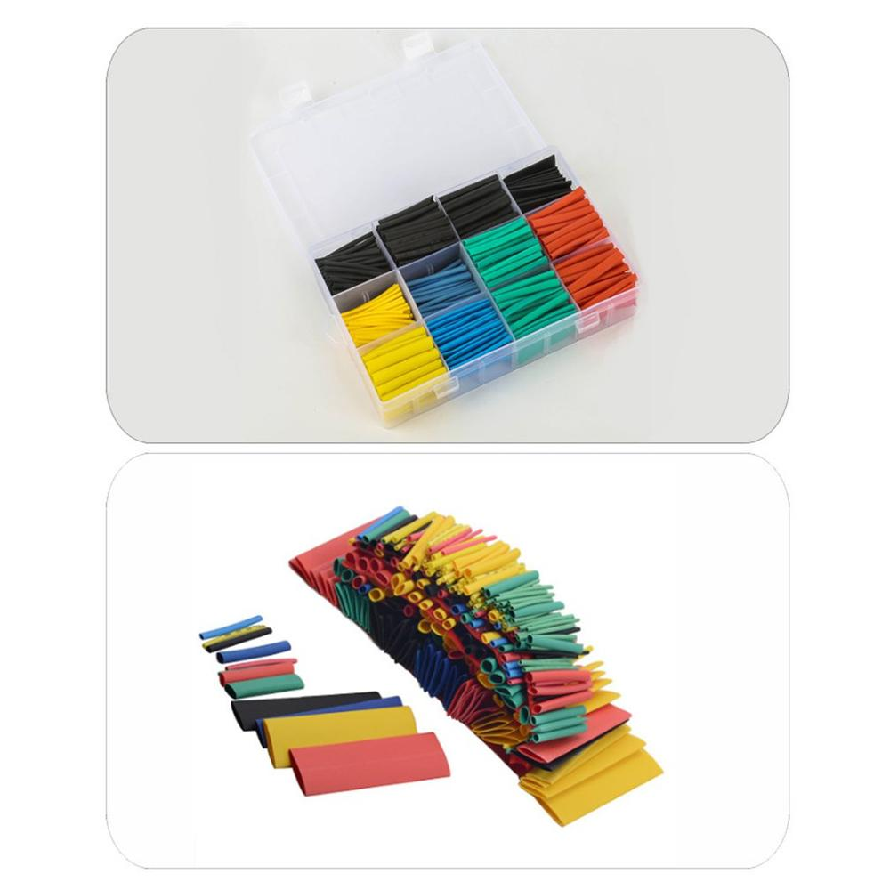 Polyolefin Shrinking Assorted Heat Shrink Tube Wire Cable Insulated Sleeving Tubing Set High temperature Flame retardant