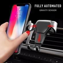 Novo titular do telefone do carro gravidade titular do telefone ventilado tomada carro-montado suporte do telefone móvel acessórios do telefone móvel txtb1