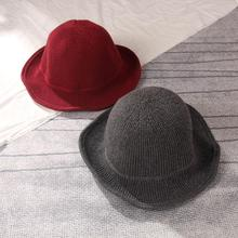 Зимняя женская теплая однотонная шерстяная Рыбацкая шапка, Женская вязанная шерстяная шапка с Круглым Верхом, Рыбацкая шапка с крючком, маленькая шапка для бассейна