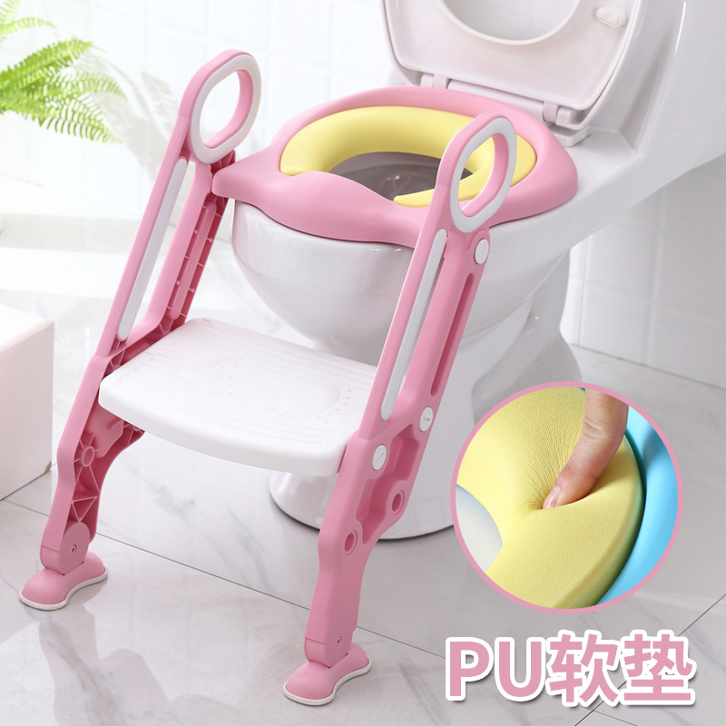 Toilet For Kids Chamber Pot Ladder Baby Girls Kids Boy Small Toilet Seat Baby Seat Washer Large Size 1-3-7-Year-Old