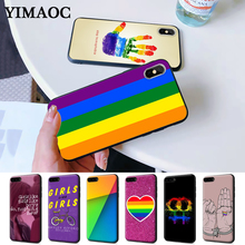 Gay Lesbian Rainbow Silicone Case for iPhone 5 5S 6 6S Plus 7 8 11 Pro X XS Max XR
