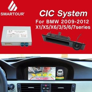 BMW CIC 시스템 용 Smartour 디코드 트랙 박스 2009-2012 X5 오리지널 스크린 업데이트 시스템 반전 모듈 + 후면보기 카메라
