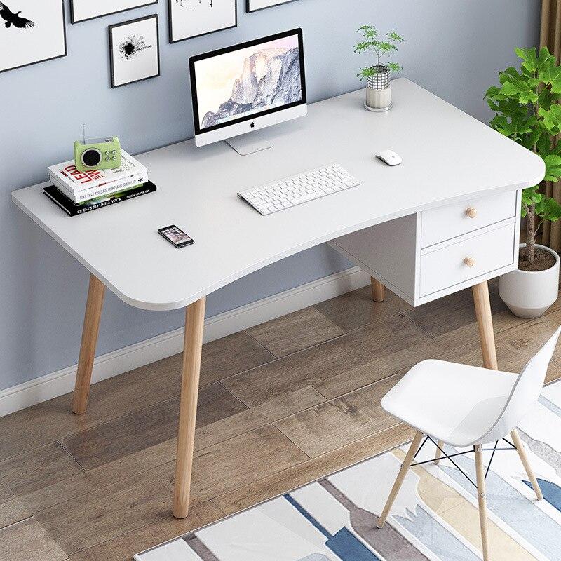 Computer desk study table Nordic office desk Modern Europe student bedroom study...