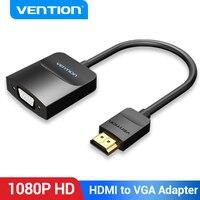 Przewód przedłużający Adapter HDMI do VGA 1080P męski na żeński VGA do HDMI do PS4 Laptop TV, pudełko projektor z 3.5 gniazda przewód Aux HDMI na VGA
