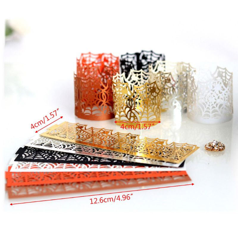 Flameless 50pcs Tea Candle Light Paper Holder Lampshade Party Table Decorations