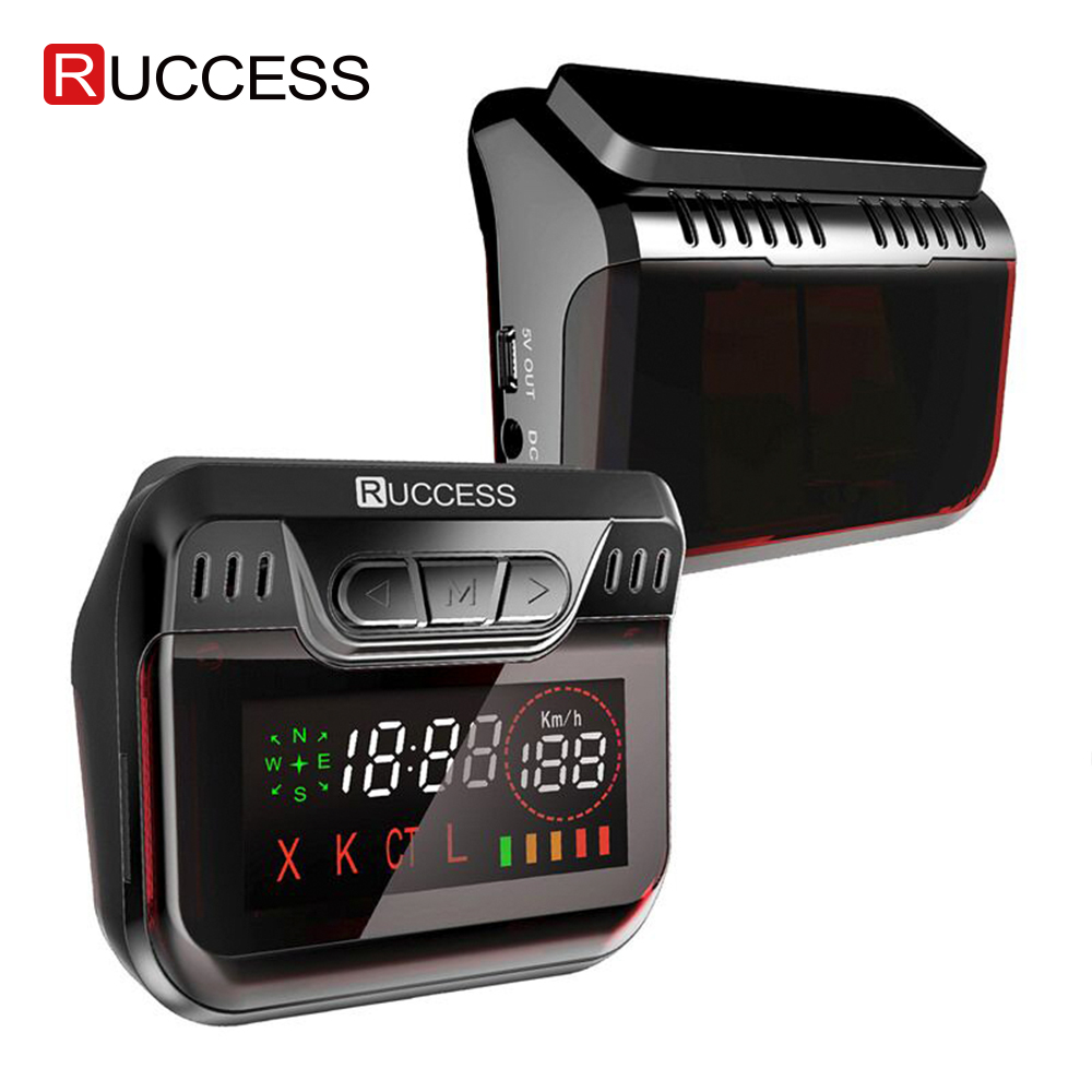 Ruccess STR S900 Radar Detectors Led 2 In 1 Radar Detector For Russia With GPS Car Anti Radars Police Speed Auto X CT K La