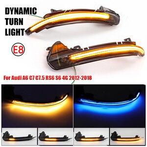Image 1 - Dinámica de luz LED de intermitente lateral espejo indicador Reemplazar directamente OEM Original para Audi A6 C7 C7.5 RS6 S6 4G 2012 2018