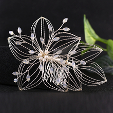 TRiXY H257-S Handmade Wired Crystal Rhinestone Flower Wedding Hair Comb Wedding Hair Pin Bridal Headpieces Wedding Hair Jewelry