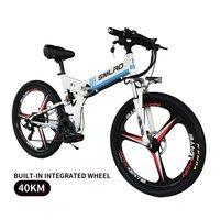 """Nova bicicleta elétrica dobrável 21 velocidade 8.8ah 48 v 350 w 110 km bateria de lítio embutida e bicicleta elétrica 26 """"fora da estrada bicicleta elétrica Bicicleta elétrica     -"""
