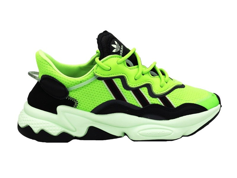 basket adidas noir et vert fluo