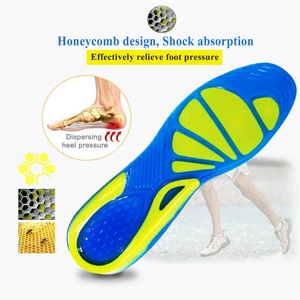 Image 2 - EiD Silicon Gel Insoles for feet Plantar Fasciitis Heel Spur Running Sport Insoles Shock Absorption Pads arch orthopedic insole