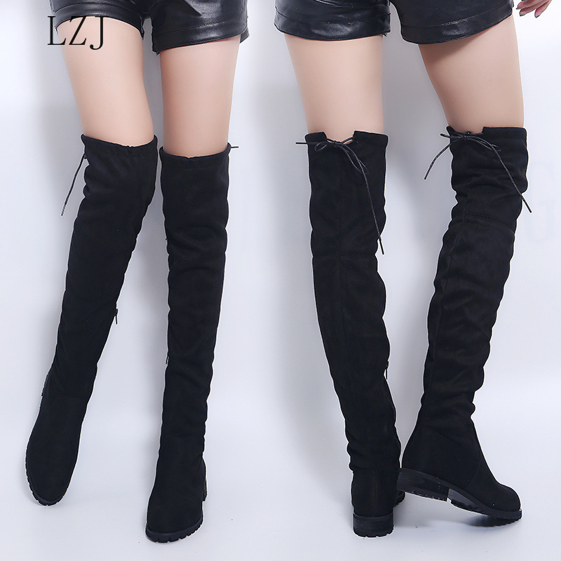 Sexy Over-The-Knee Boots Women Boots Female Winter Shoes Women Suede L