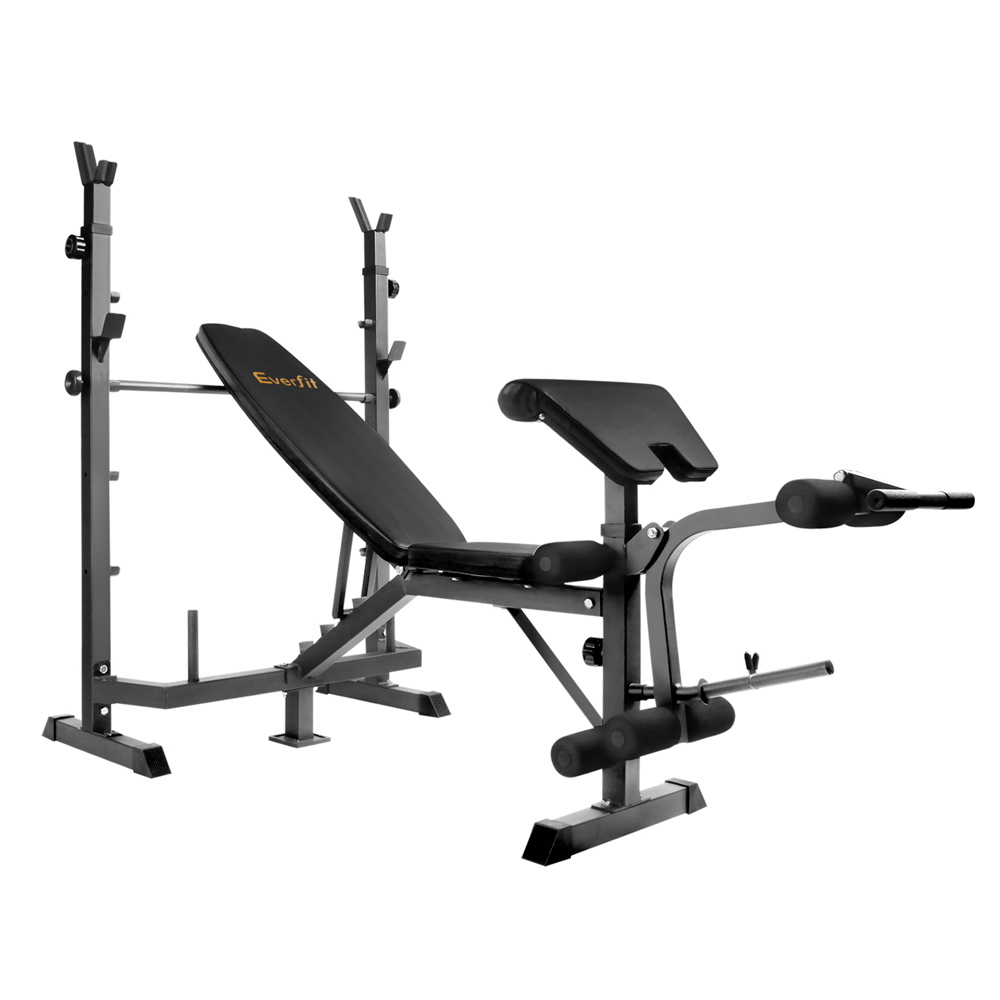 Everfit 9-In-1 Weight Benches Multi-Function Power Station Fitness Gym Equipment Waterproof Barbells Training Adjustable Bench