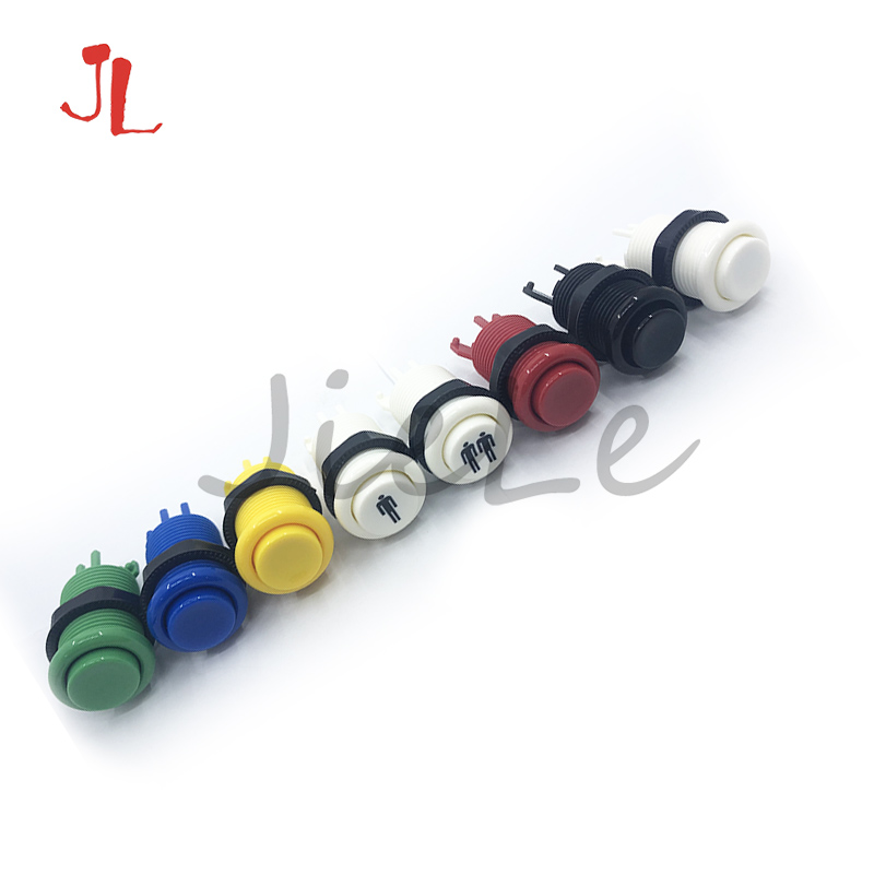 20 шт./лот Оригинальные американские кнопочные кнопки Happ (короткий) с микропереключателем для аркадной машины Mame Jamma ПК Игр