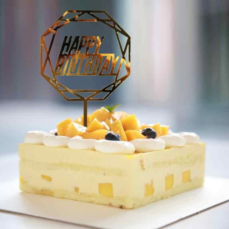 アクリルケーキトッパーウエディングケーキトップフラグの装飾ケーキトッパーのためのカップケーキの誕生日パーティーの装飾