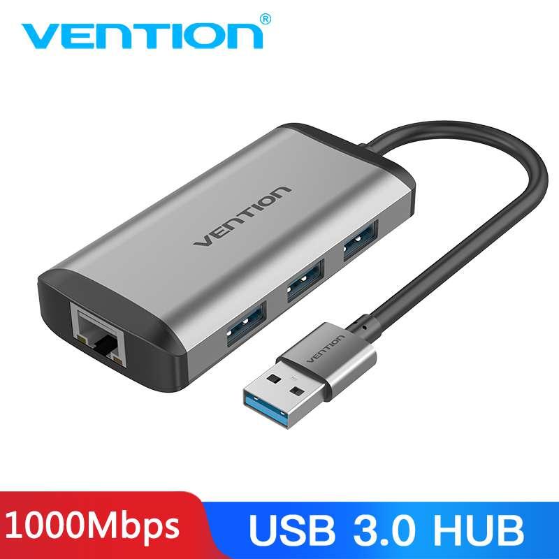 Vention USB 3.0 Hub High Speed USB3.0 To RJ45 Ethernet Adapter USB Splitter 1000Mbps Network Card For Macbook Laptop PC Tablet