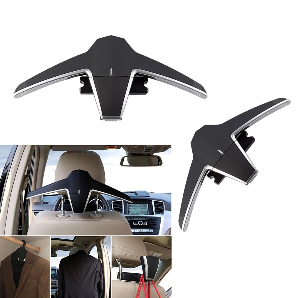 2x Car Coat Hanger, Auto Back Seat Headrest Clothes Jackets Suits Hooks, High-End Multi-Purpose Storage Car Accessories