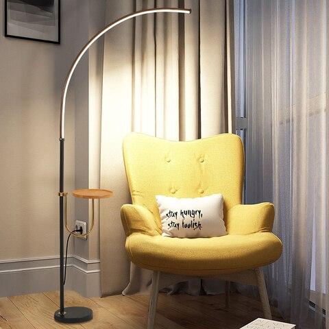 nordic minimalista lampadas de assoalho led em pe lampadas sala estar led preto branco aluminio