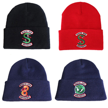 Hat Riverdale Serpent Beanie Cosplay-Cap Embroidery Tv-Series Snake Knitted Hip-Hop Warm