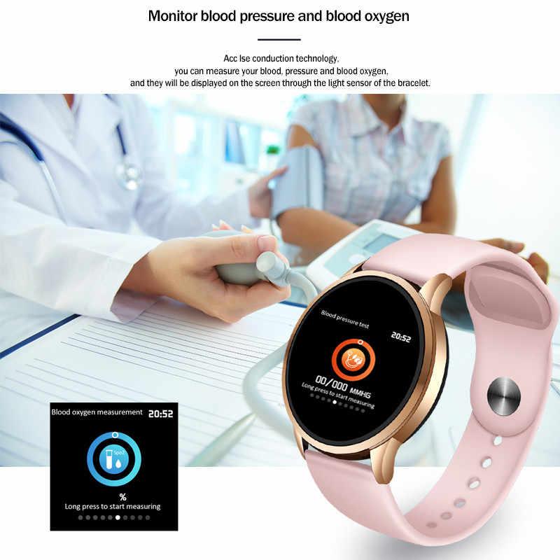 LIGE spor izci akıllı saat su geçirmez spor IOS Android telefon Smartwatch için nabız monitörü kan basıncı fonksiyonları