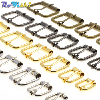 5pcs/pack Metal Wire Formed Half Single Roller Belt Buckles for Hand Bag Shoe StrapRectangle Ring Leather Craft Repair DIY Decor