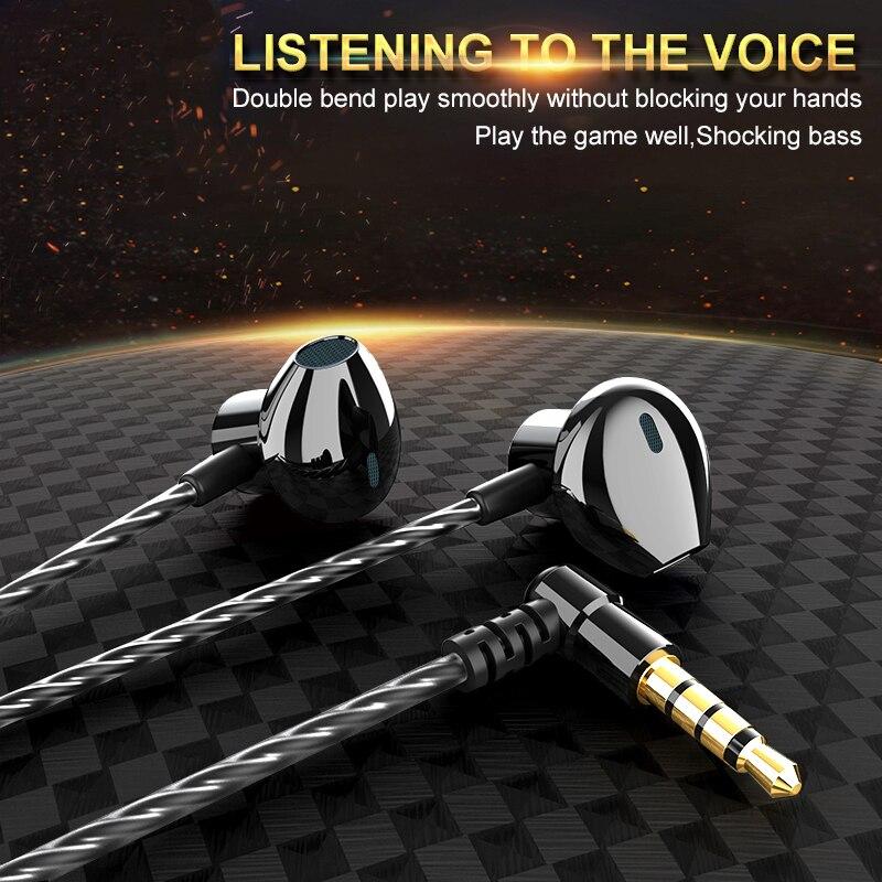 De Metal Fone de Ouvido com fio fone de Ouvido Com Fio Para O Telefone Móvel PC Gaming WIred Fones De Ouvido Fone De Ouvido 3.5 milímetros fone de OUVIDO Fone de Ouvido Fone de ouvido Confortável