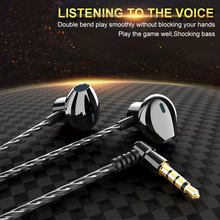 Metal wired Earphone Corded Headset For Mobile Phone PC Gaming WIred Headphone 3.5mm IN-EAR Comfortable ear Headphones