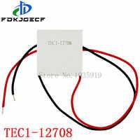 10 Uds. TEC1-12708 DC 12V 8A TEC refrigerador termoeléctrico Peltier TEC1 12708 40*40mm Peltier Elemente módulo disipador térmico placa de refrigeración