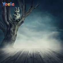 Yeele Halloween Backdrop Forest Tree Wood Owl Night Trick Or Treat Customized Vinyl Photography Background For Photo Studio
