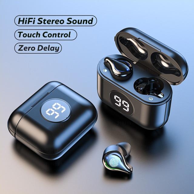 Wireless Headphones TWS Bluetooth Earphones With Microphone True Wireless Stereo Earbuds Touch Control Sport Waterproof Headsets