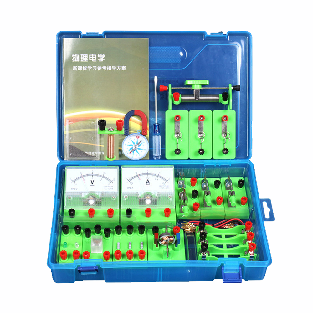 Kids School Educational Toys Electricity Circuit Magnetism Kit Learn Basic Electricity Physics Science Experiment Toy