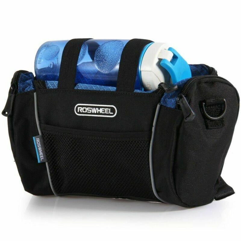 Roswheel 5L Bike Handlebar Bag Bicycle Front Tube Pocket Shoulder Pack Riding