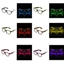 led light cosplay scary series mask rave costume lights neon led bright chrstimas blink mask nighttime glow in dark party decor Luminous LED Glasses EL Wire Fashion Neon LED Cold Light Glasses for Dancing Party Bar Meeting Glow Rave Costume Supplies