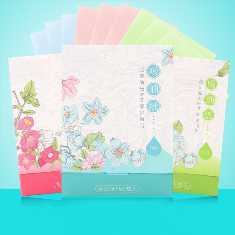 100 Sheets/Set Make Up Oil Control Oil-Absorbing Blotting Facial Face Clean Paper Oil Control Film Beauty Tools