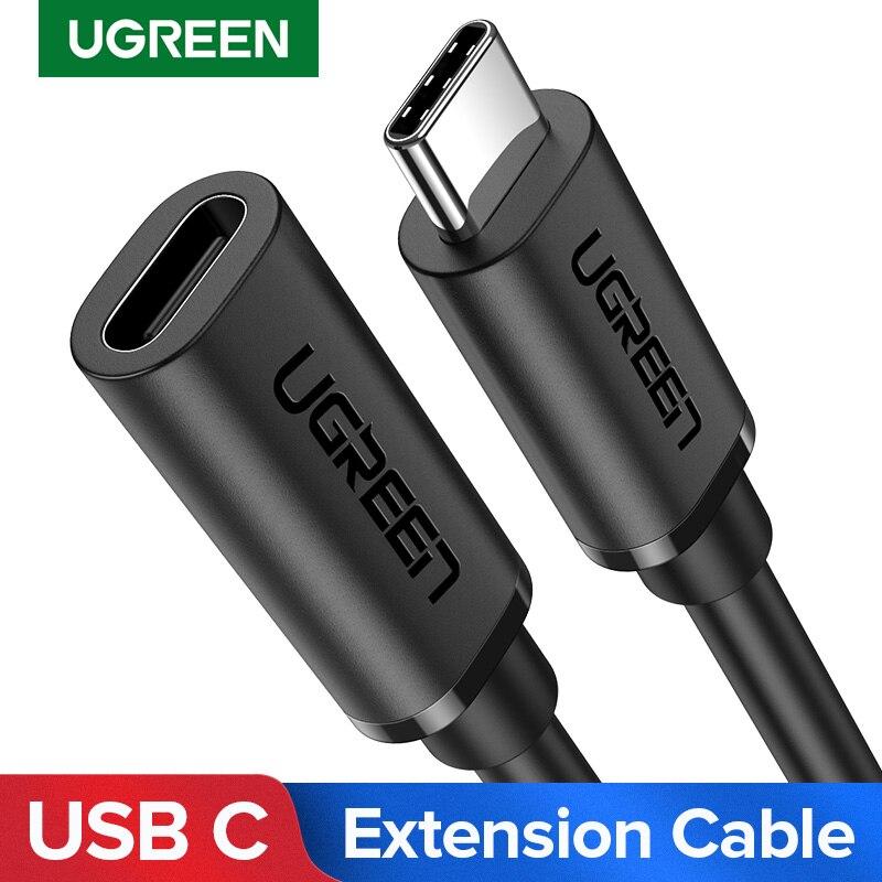 Ugreen USB-C tipo de Cable de extensión C extensor de Cable USB-C Thunderbolt 3 para MacBook Pro Nintend interruptor USB Cable de extensión USB 3,1 Cable de