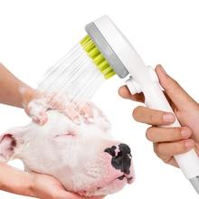 Haustier Bad Pinsel Kämmen Dusche Kopf Katze und Hund Wasser Spray Pinsel Dusche Kopf Dusche Wasser Sprinkler Pinsel für Hunde katzen