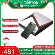 Intel gaming mini núcleo i9-9880H i9 8950hk i7 9750h nvidia gtx 1650 4gb jogo desktop 2ddr4 64gb windows10 4k dp hdmi ac wi-fi