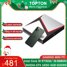 Intel Gaming Mini PC Core i9-9880H i9 8950HK i7 9750H Nvidia GTX 1650 4GB Spiel Desktop 2DDR4 64GB Windows10 4K DP HDMI AC WiFi
