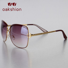 oakshion Luxury Brand Square Sunglasses Women Vintage Black Metal Big Frame Sun Glasses Lady Female Shades Driving Eyeglasses