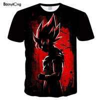 Dragon Ball Ultra Istinto Super Saiyan T-Shirt Da Uomo di Estate di Dragon Ball Z magliette Divertenti Anime Straniero Cose Kid Goku 3d t shirt