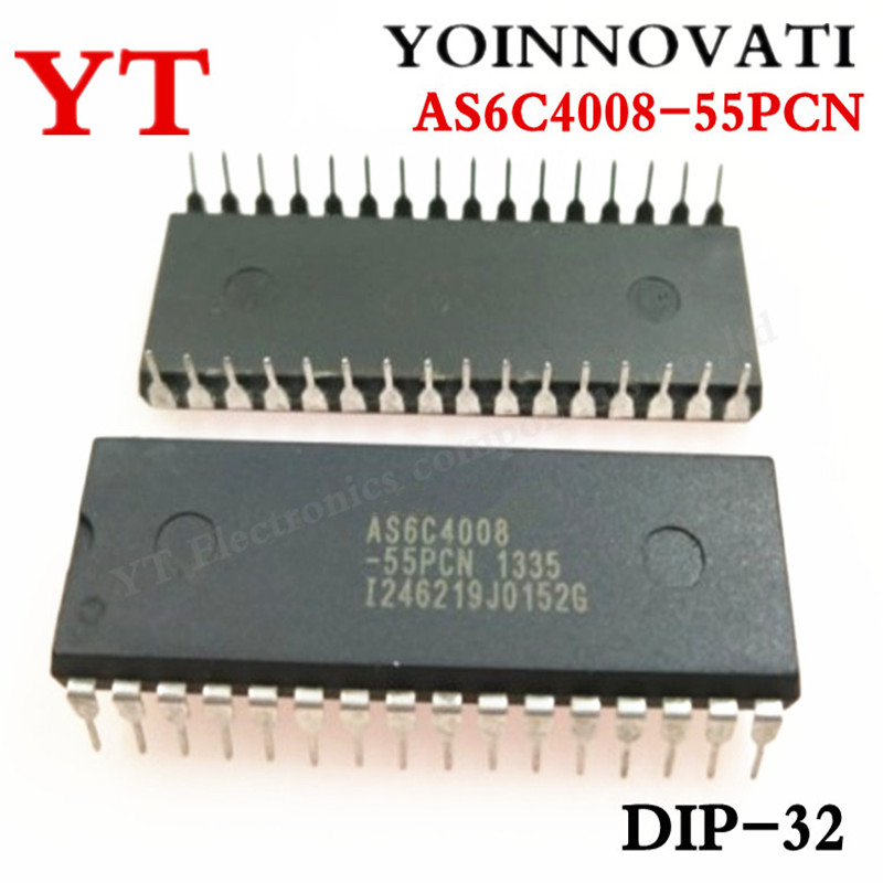 5pcs/lots AS6C4008-55PCN IC SRAM 4MBIT 55NS 32DIP 6C4008 AS6C4008 Best Quality