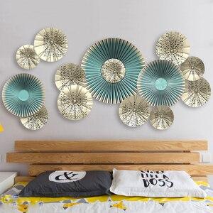 Kreatywny 115*58cm 3D Fan Wall naklejki ozdobne w stylu europejskim salon winyl do wystroju wnętrz dekoracja sypialni plakaty tapety