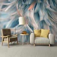 Custom Mural Wallpaper 3D Color Feather Fresco Living Room Bedroom Home Decor Backdrop Wall Painting Modern Art Papel De Parede