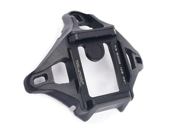 Тактический шлем Wilcox, 4 отверстия, велосипедный шлем, металлический кожух P/N с винтами, подходит для морского шлема, BK DE - Цвет: Black