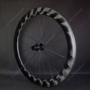 Image 1 - Pro luz x60mm rodas de carbono ciclismo ultra leve x 60 rodas ciclismo estrada jantes carbono novatec centro bloqueio para venda