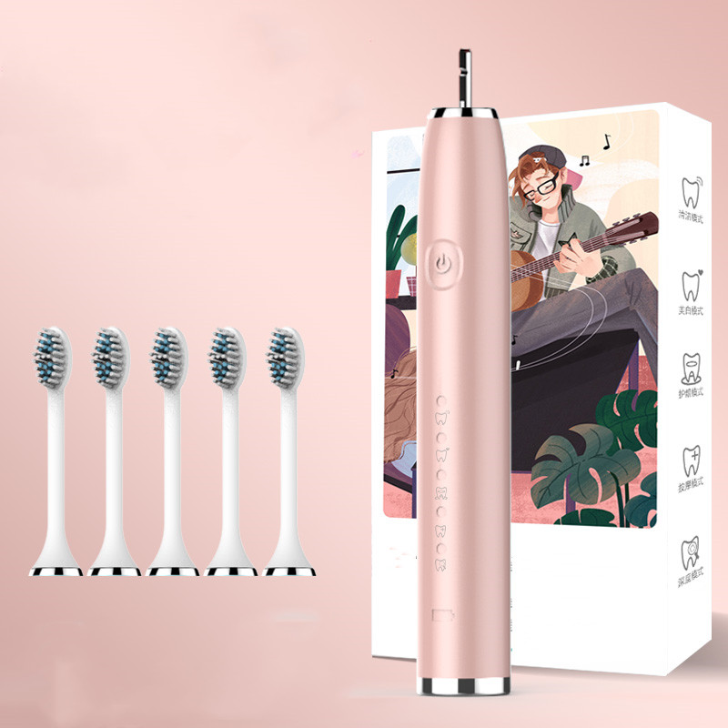 Electric Toothbrush Sonic Toothbrush Top Quality Smart Chip Toothbrush Head Replaceable Whitening Healthy Best Gift ! image
