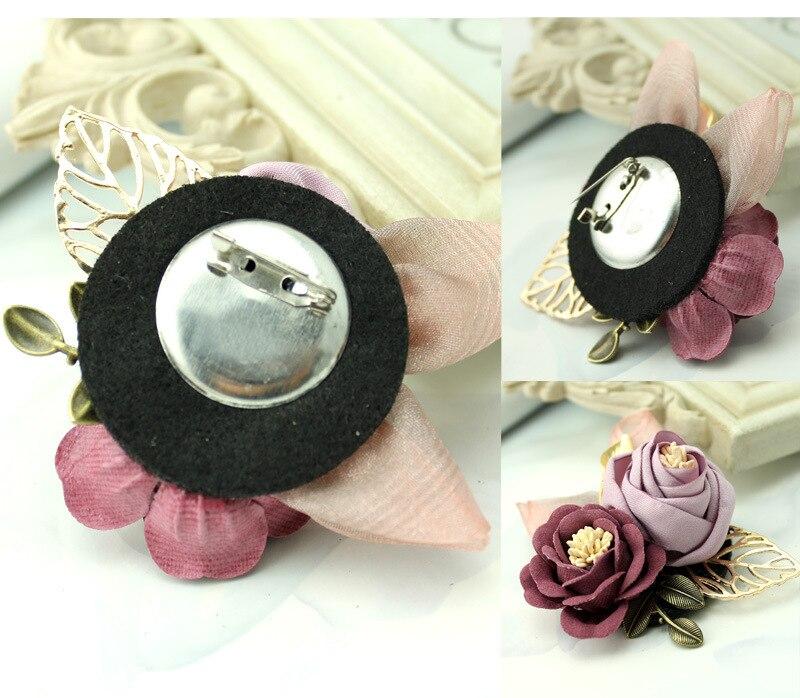 i-Remiel Korean Cloth Art Fabric Flower Brooch Shirt Collar Vintage Pins and Brooches for Women Dress Shirt Collar Accessories 6
