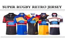 Super rugby retro jérsei 1996 blues 2000 cruzados 1999 furacões 1998 highlanders e chiefs tamanho: S-5XL
